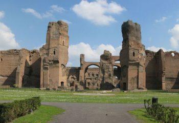 Panorama de las termas de Caracalla
