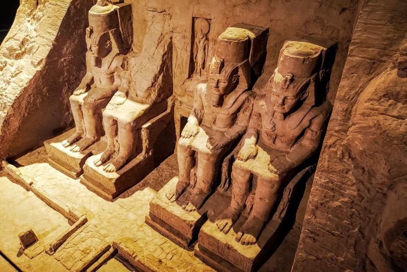 Vaijar a Egipto Templo de Abu Simbel Ramses II vista superior