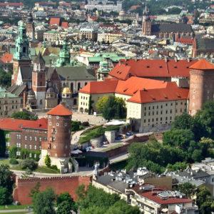 Vista aérea de Cracovia. Gran oferta a Cracovia.