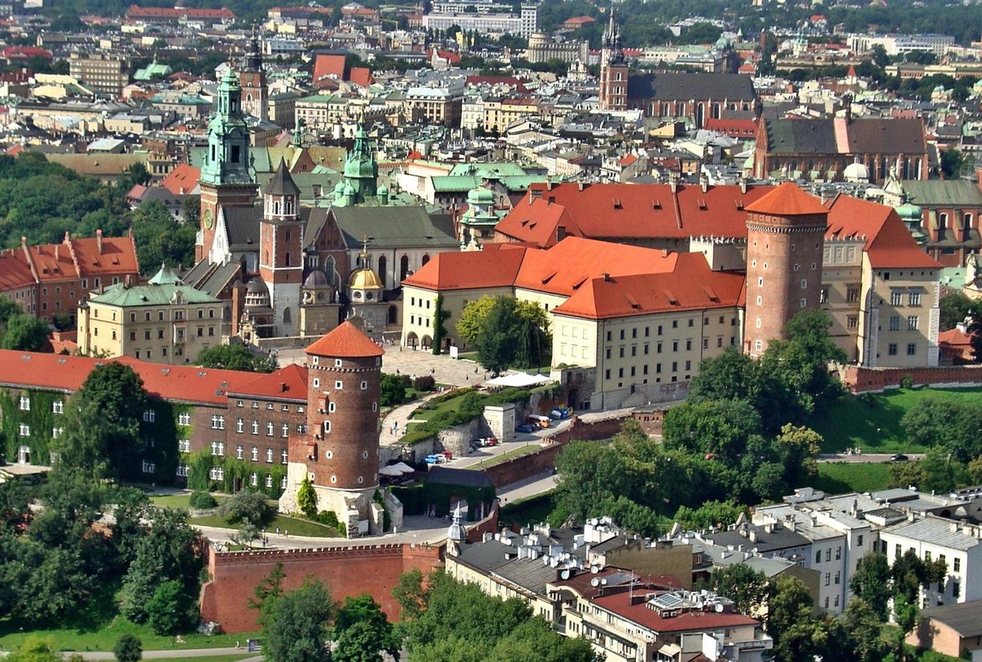 Vista aérea de Cracovia