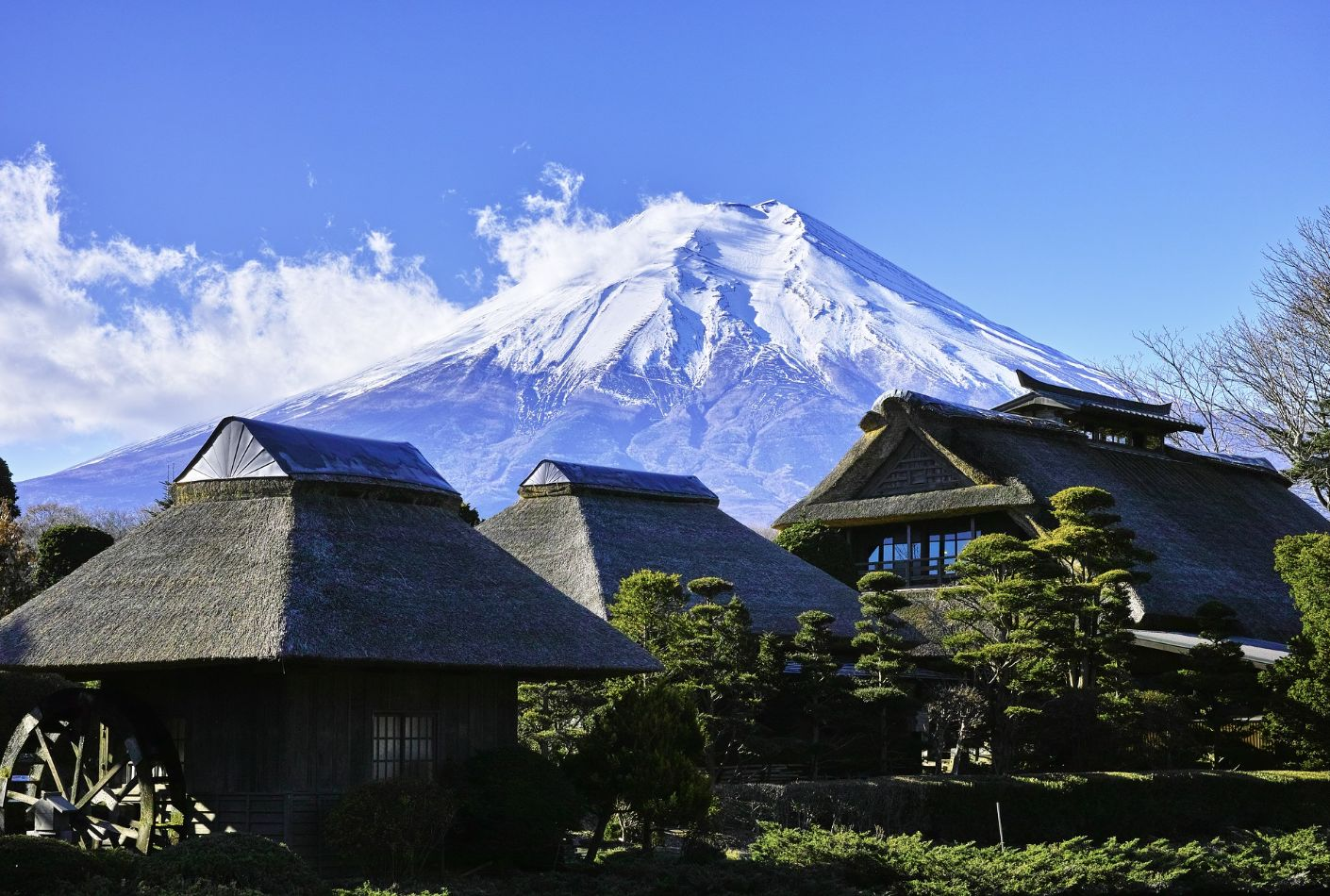 Vista de lejos del Monte Fuji. SuperOferta a Japón.