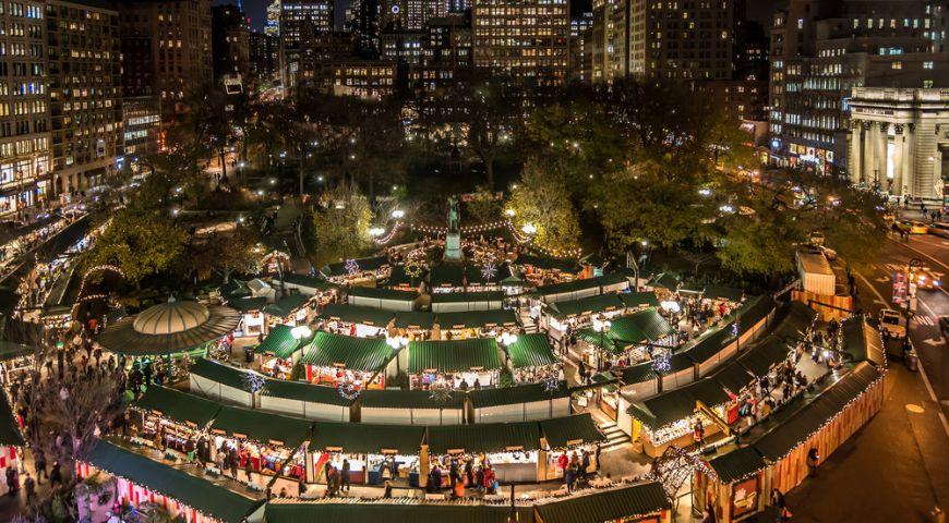 Mercado navideño de la Union Square