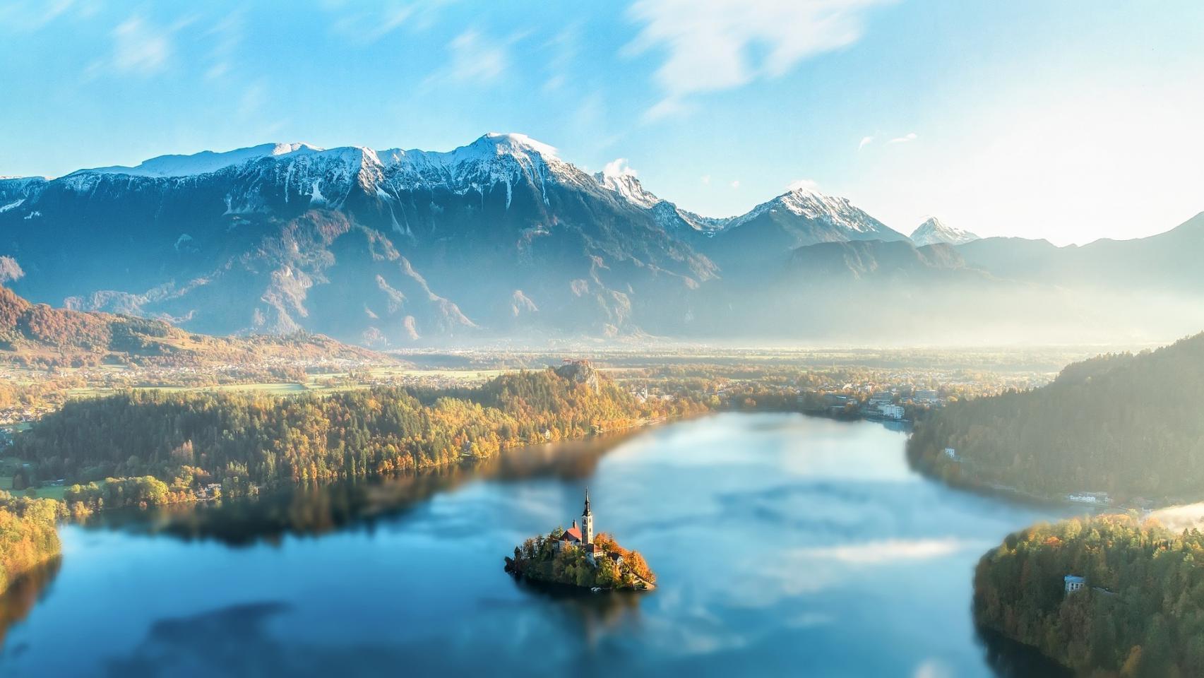 Castillo en el lago Bled